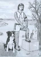 Őrleány és hű kutyája