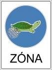 Teknős Zóna tábla
